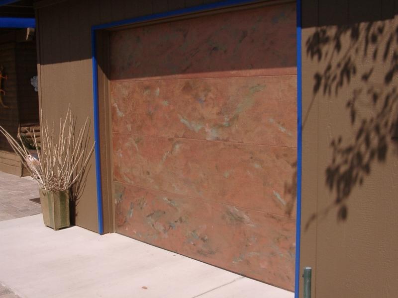 Copper Look Faux Garage Door.