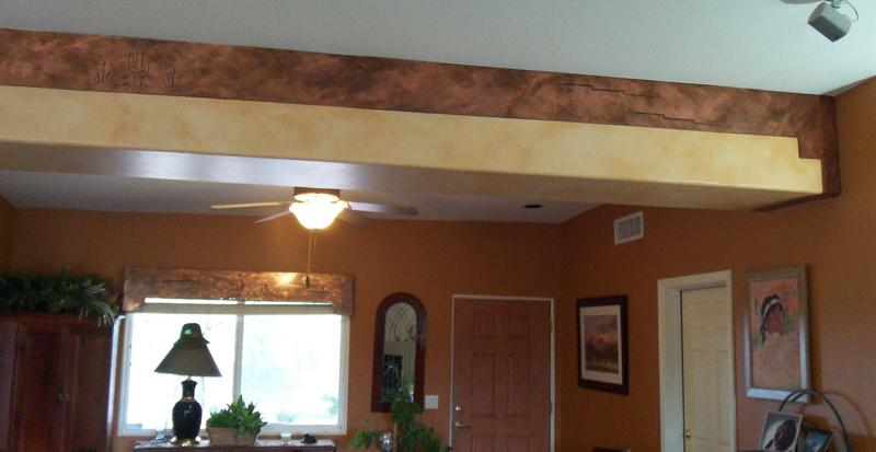 Faux Copper to match real copper valances