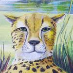 Detail of cheetah.  ©2001 Kristen Muench photo by David A. Harvey