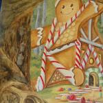 A detail from the Hansel & Gretel section of the Sacramento Mural. See the index for full mural gallery. ©2011 Kristen Muench photo by Joanne Hufford