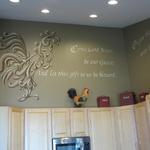 May 2013 - Check out this elegant Rooster with Lutheran Blessing mural Murals - Private Homes