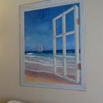 Window to the Sea - Private Home Mural - 2'x3' h August 2013 Photo by KM