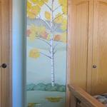 Continuation of previous artist's mural - Aspens - Private home murals - November 2013 Photo by KM