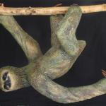 "3-Toed Hanging Sloth (#0612) 32""h x 25"" l x 12"" w Private Commission © 2012 Kristen Muench"