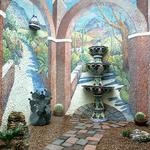 Exterior Arched Atrium with Desert Path each wall 6'w x 11' h ©2004 Kristen Muench