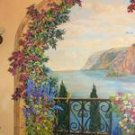 Left side of Dining Room Mural Terrace with Flowers Oro Valley, AZ 9'h x 8'w ©2006 Kristen Muench