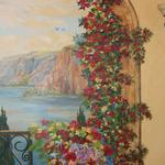 Right side of Dining Room Mural Terrace with Flowers Oro Valley, AZ 9'h x 8'w ©2006 Kristen Muench