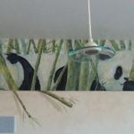 "Panda mural above the kitchen cabinets.  23' long x 38"" high Oro Valley, AZ ©2012 Kristen Muench"