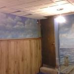 Sailfish in Ocean with Dock Mural (with side wall included) 8'h x 13'w Private Home, Parker, CO August, 1024 Photo by KM